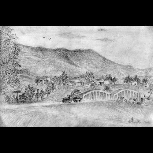 Δρόμος με γέφυρα στο χωριό